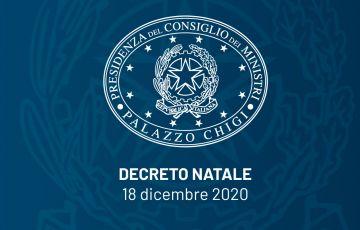 Decreto Legge n.172 del 18 Dicembre 2020.