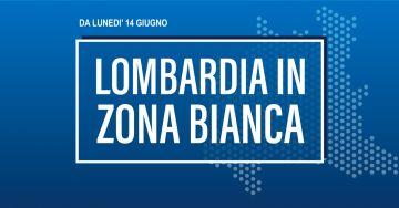 Da lunedì 14 giugno Lombardia in zona bianca