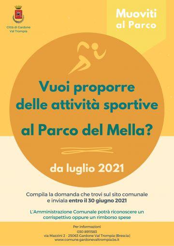 """Manifestazione di interesse """"Sport al parco 2021"""""""
